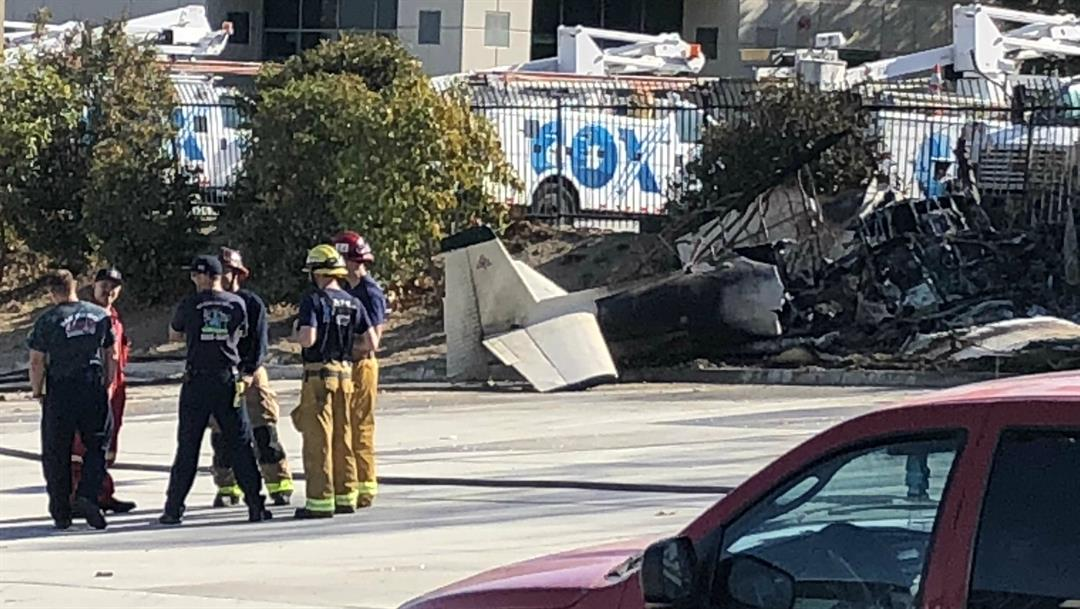 Small plane crashes near Gillespie Field in El Cajon