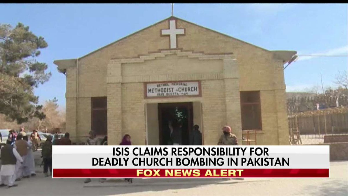 ISIS claims responsibility for deadly church bombing in Pakistan.