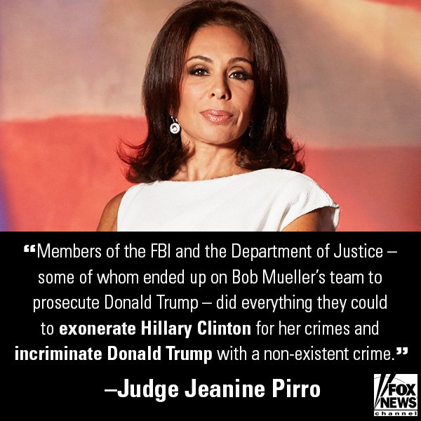 .@JudgeJeanine Doubles Down on FBI 'Consigliere' McCabe, Agent Strzok