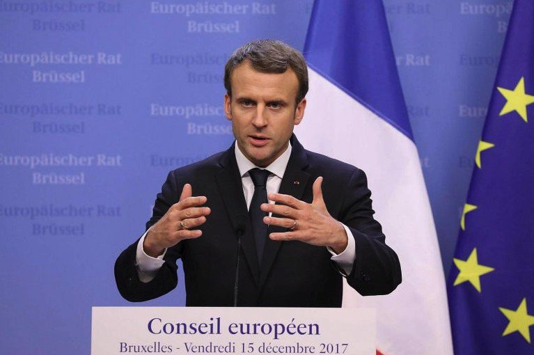 Nuclear, renewables to help French CO2 reduction goals, Macron says