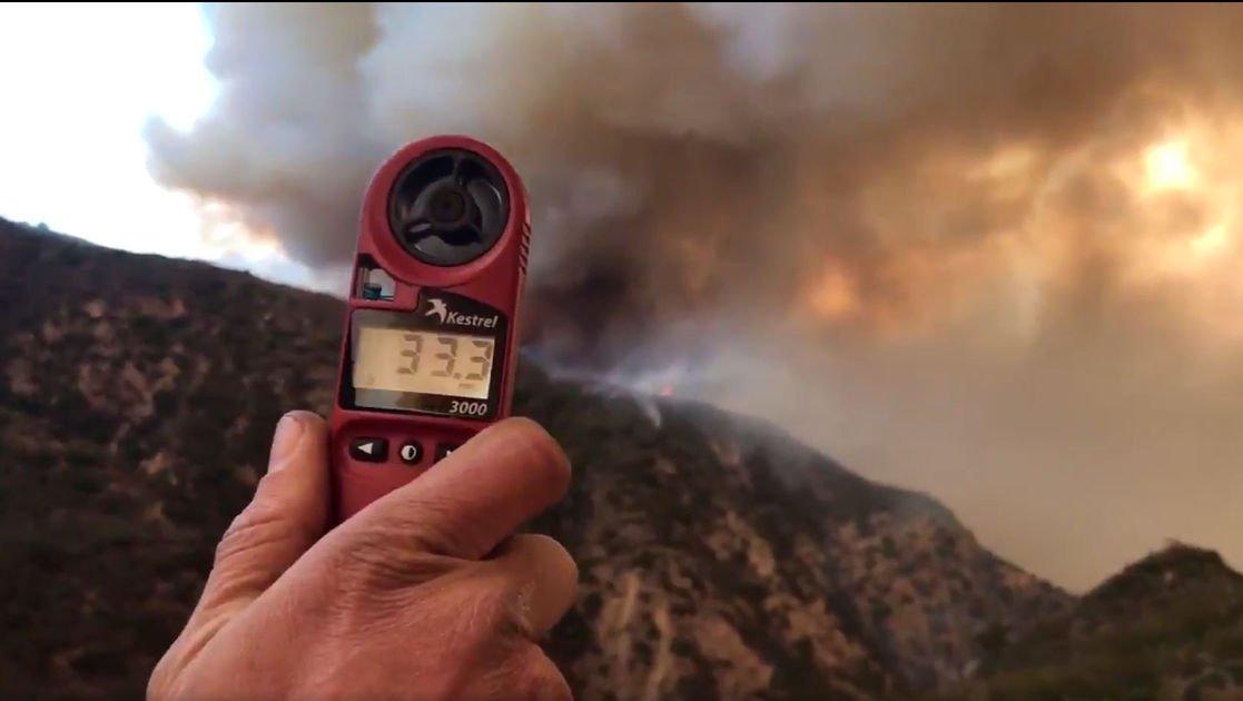 Powerful winds raise fire risk as crews battle blaze