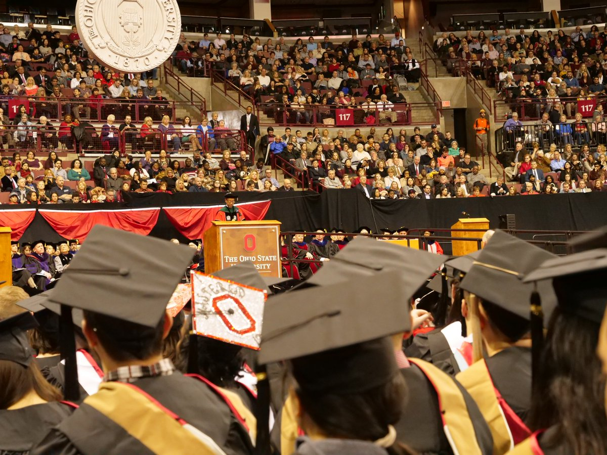 Congratulations to all those who sat in these seats today. 🎓#BuckeyeForLife. https://t.co/1En8XHzQTk