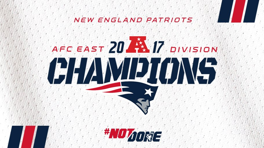 Oh by the way, #Patriots are AFC East Champs.   #GoPats #NotDone https://t.co/LTkabTyQP5