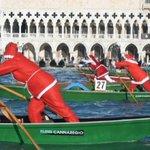 Dozens of boating Santas race in Venice's Grand Canal