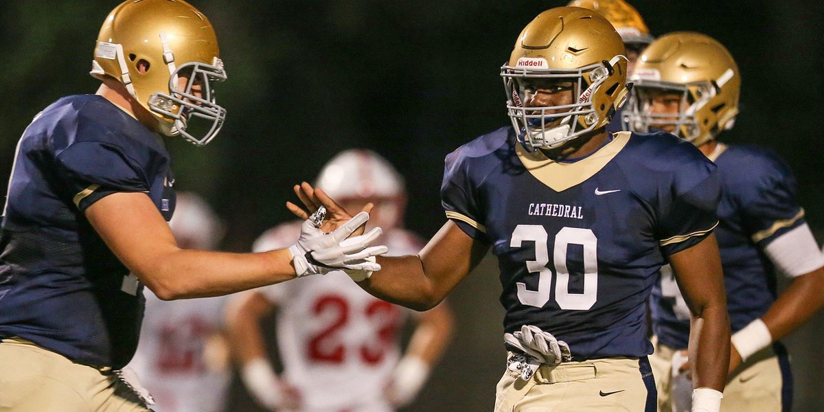 Markese Stepp of Cathedral makes his college choice