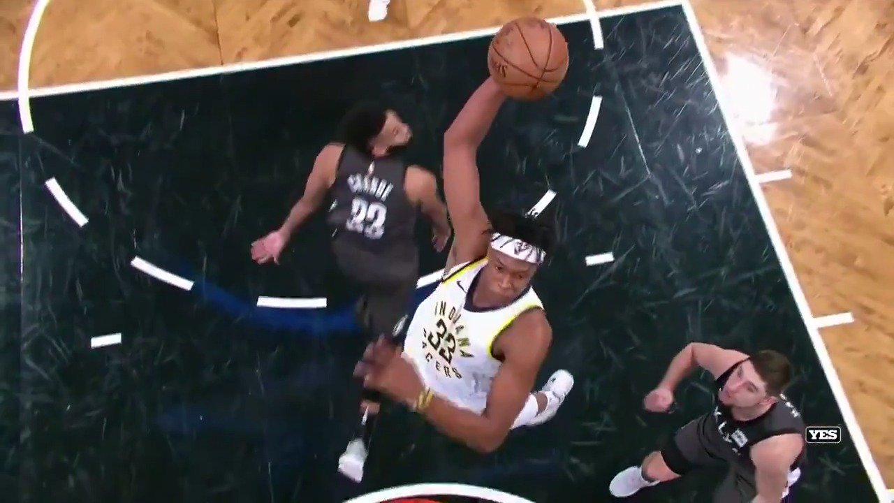 Myles Turner puts the ❗️on the @Pacers victory!  #Pacers https://t.co/PHzDXaxp3Z