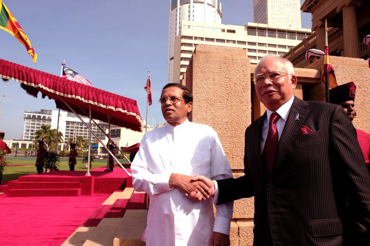 Najib diberi sambutan rasmi di Sri Lanka