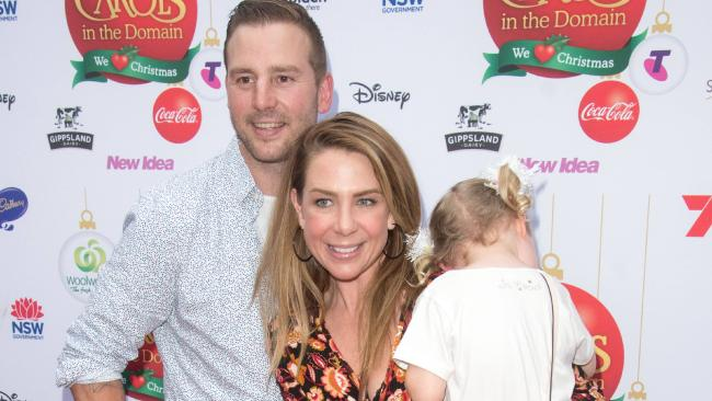 Kate Ritchie makes rare public appearance with husband Stuart Webb and three-year-old daughter