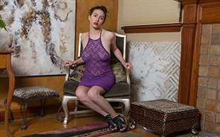 A sheer purple dress (https://t.co/SHoFg9kjDP) looks amazing on #brunette #amateur Mary Jane! https://t