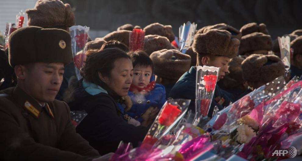 North Koreans mark the 6th anniversary of former leader Kim Jong Il's death
