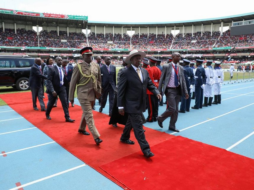 Museveni in state visit for talks with Uhuru