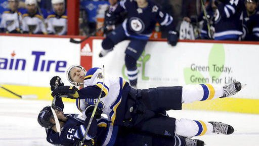 Blues have no goals, and no answers for Jets