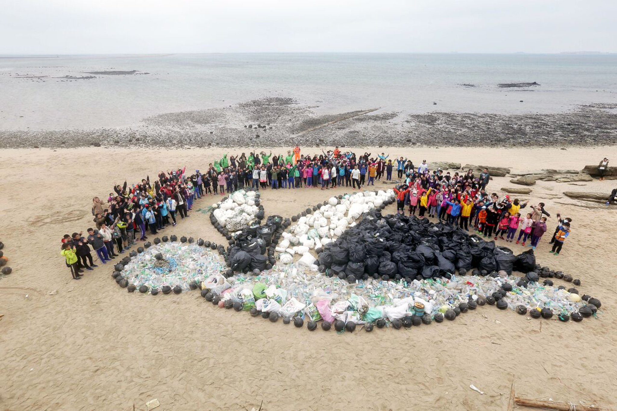 Guess how many plastic bottles were found during this beach cleanup in Taiwan? https://t.co/DaomyHPu3Z https://t.co/Sek2ba3SYh