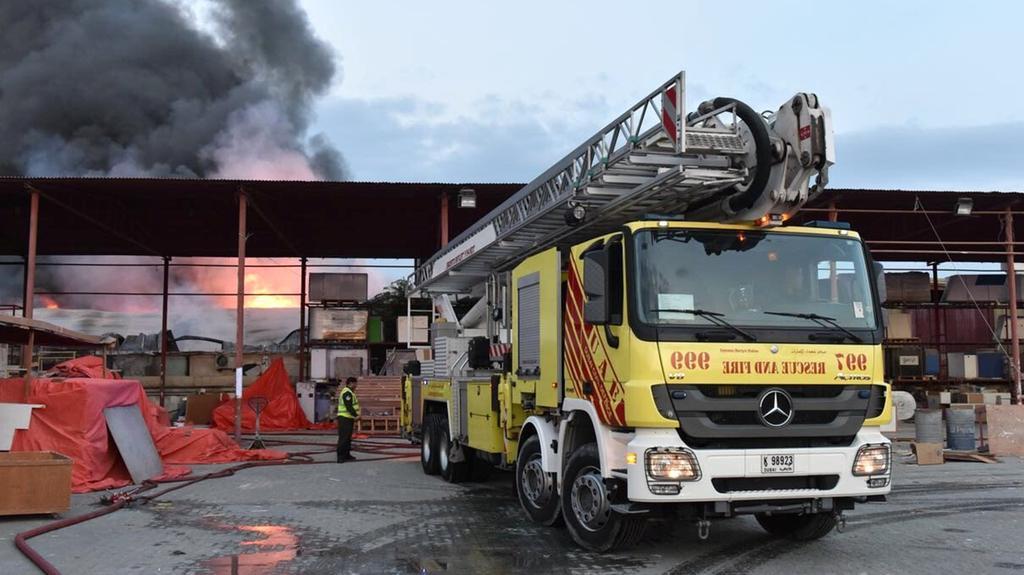 Three men die in Dubai warehouse fire
