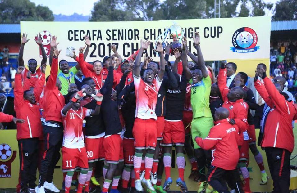 President Kenyatta congratulates Harambee Stars for winning CECAFA Senior Challenge Cup