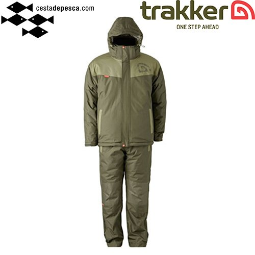¡NOVEDAD! #Traje Frío #Trakker Core Multi #Suit de 3 piezas en color verde. #carpfishing https://t