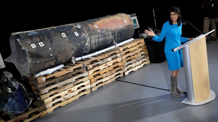 Iran demands right to examine Yemen missile parts displayed by US envoy Nikki