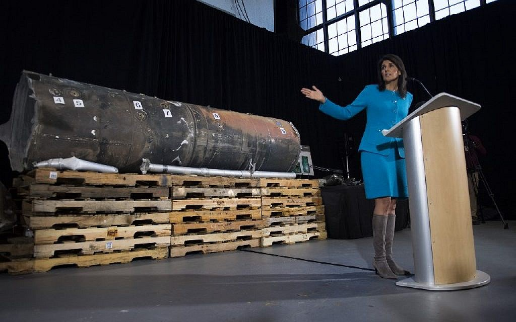 Iran demands right to examine missile parts exhibited by US diplomat