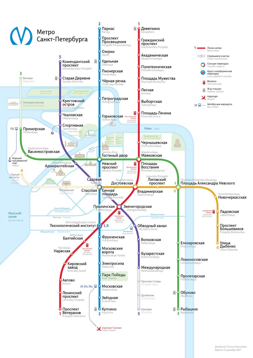 Карта санкт-петербург схема 2017