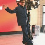 Jackie Chan gifts antique street lamp to museum