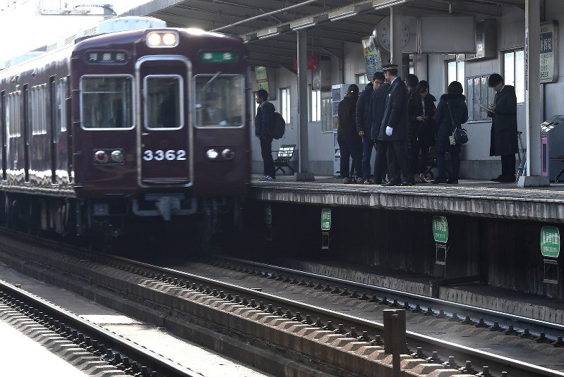 Likely visually impaired woman fatally struck by train after platform fall in Osaka