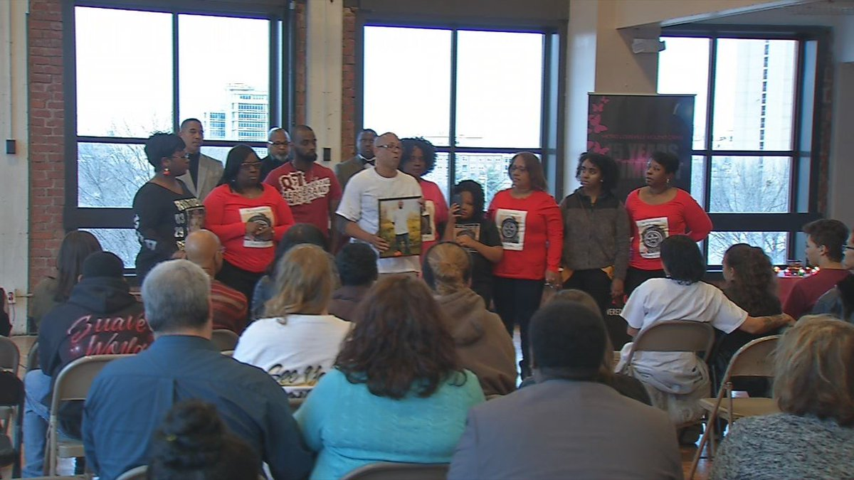 Dozens dealing with aftermath of violent crime gather to show support for one another