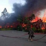 Military, fire department investigating cause of fire