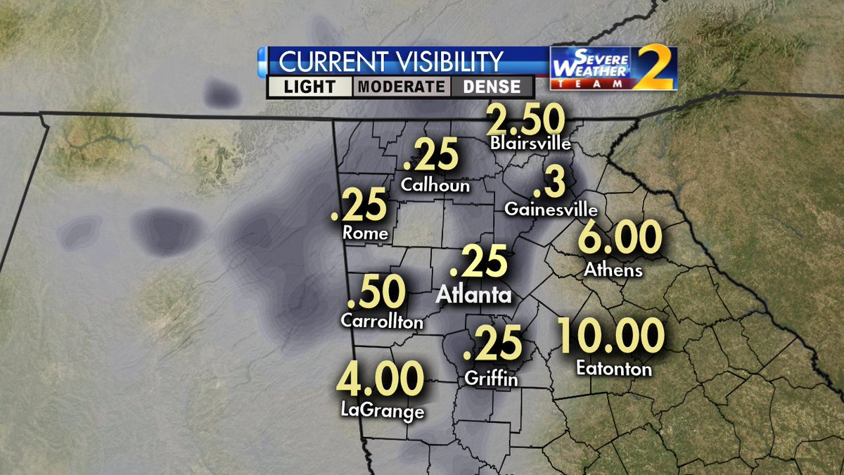 Visibility low due to dense fog advisory