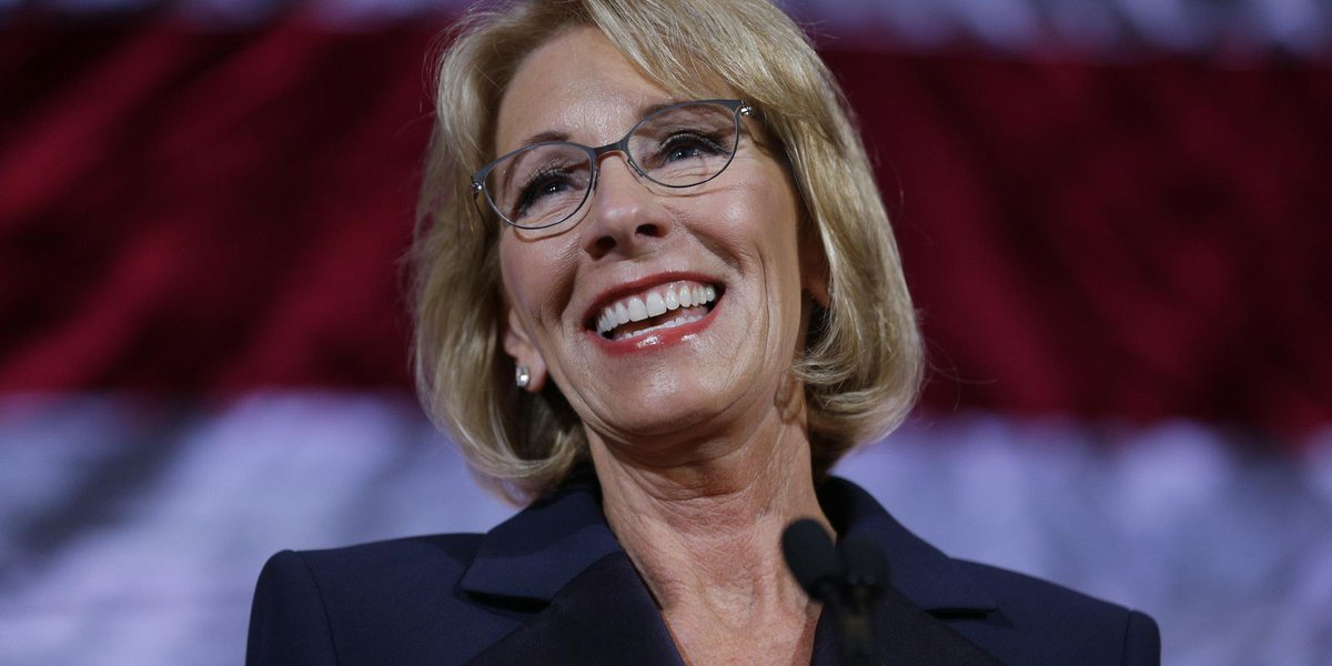 DeVos to give commencement speech at U of Baltimore