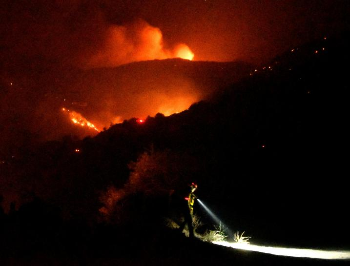 Lighter winds early this week may help battle against California wildfire