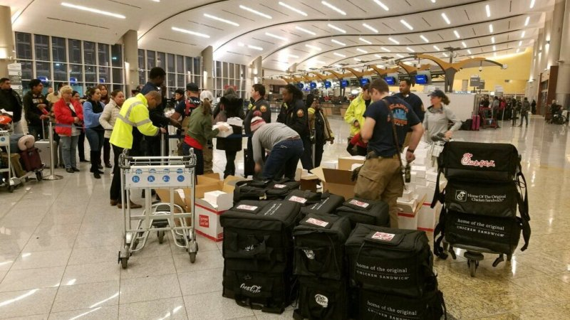 Chick-fil-A opens on a Sunday to feed passengers stranded at Atlanta's airport