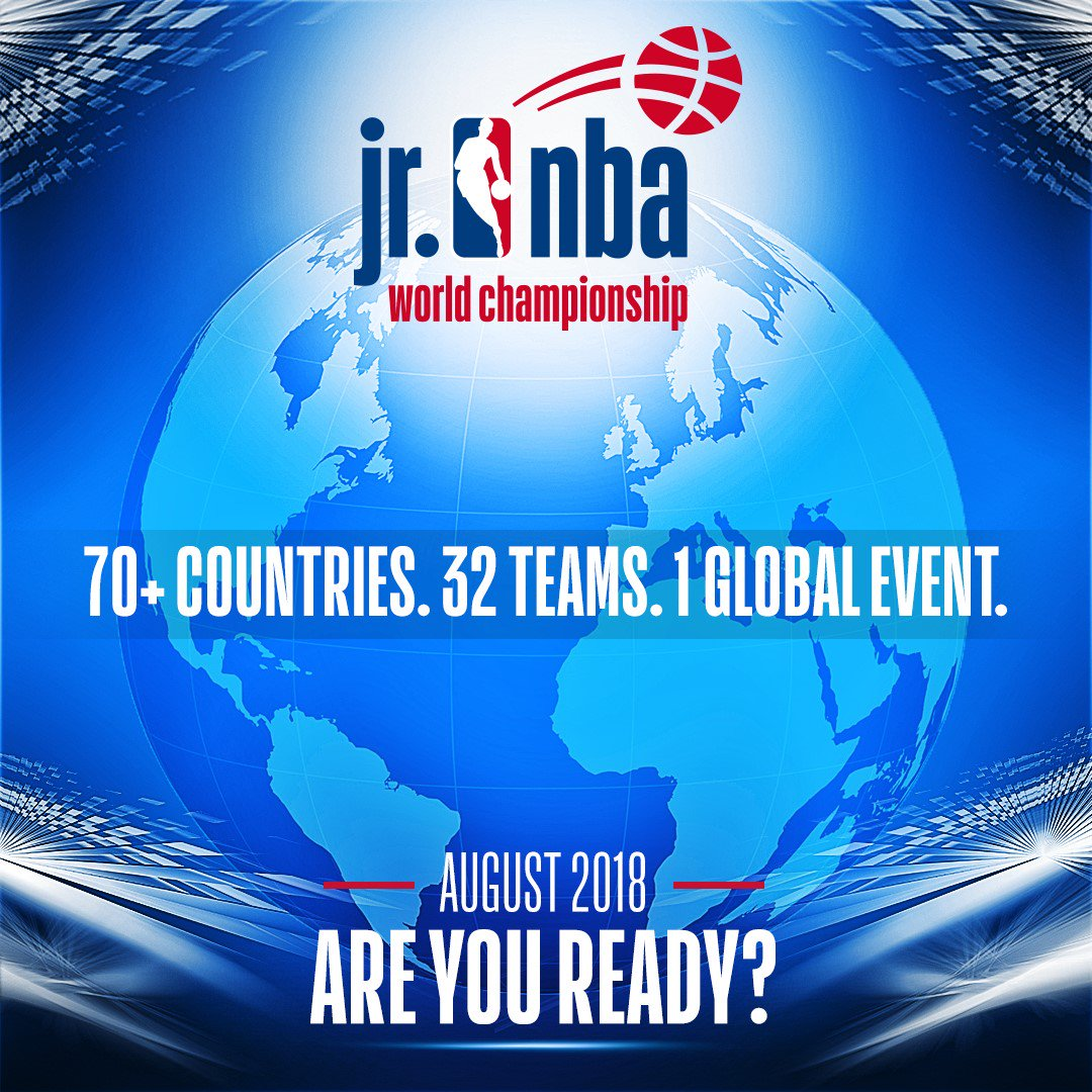 Are you ready?   The #JrNBAWorldChampionship tips off August 2018!  Get the latest info: https://t.co/TkRZlW5bgf https://t.co/JszgGVrGIq