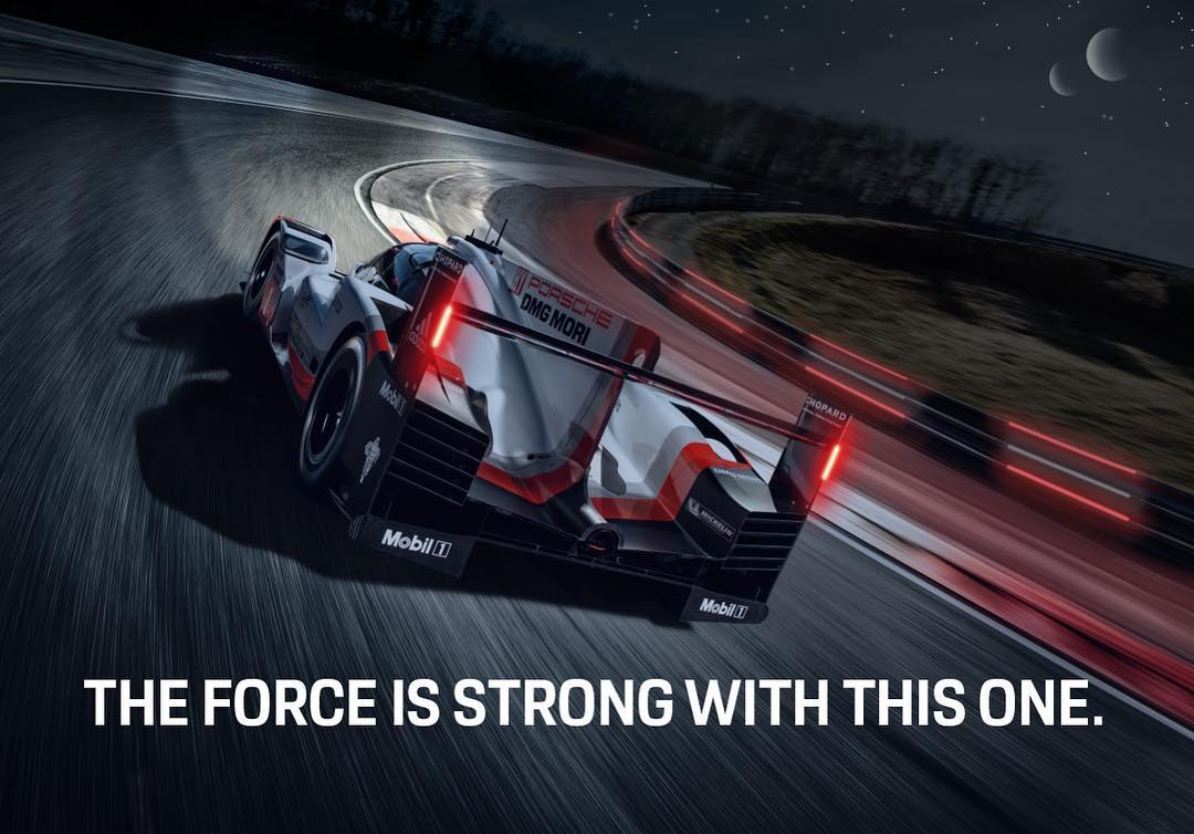 Today, we honor our very own original trilogy of favorite memories -- Le Mans victories in 2015, 2016, and 2017 from the amazing #Porsche 919 Hybrid. #919Tribute #StarWars #MayTheForceBeWithYou https://t.co/ganVt7GrY7