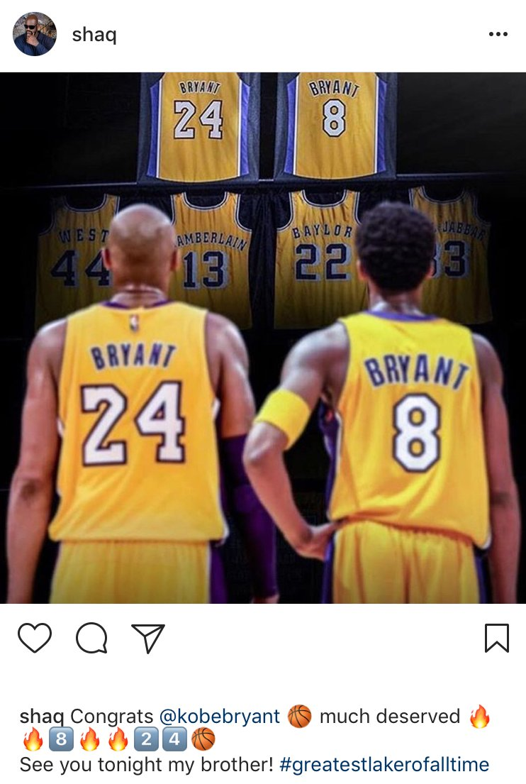 The sports world took to social media to congratulate Kobe on his jersey retirement #Ko8e24 https://t.co/rbKeBLXwin https://t.co/hqrunTTJyL