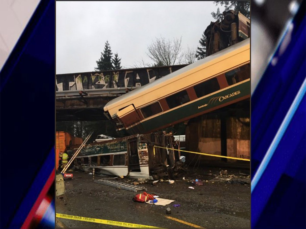 Injuries, fatalities reported after Amtrak passenger train derails onto Washington highway