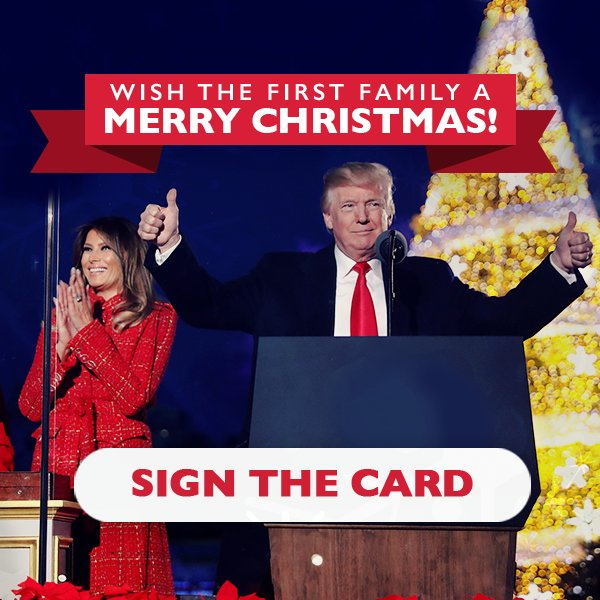 Don't miss your chance to send the First Family Christmas wishes. Sign their card here: https://t.co/PFtxNcJX48 https://t.co/qMWlU9J8hZ