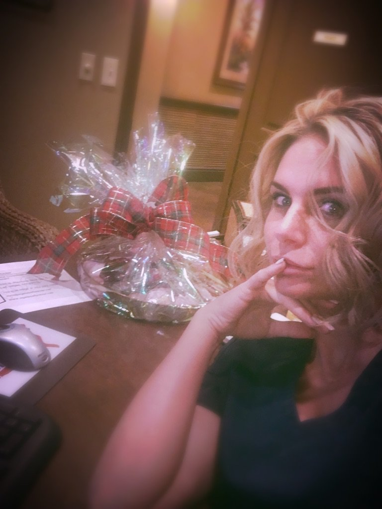 When they bring gift baskets to the office full of homemade delicious and leave it in Your Office #IEatThemAll