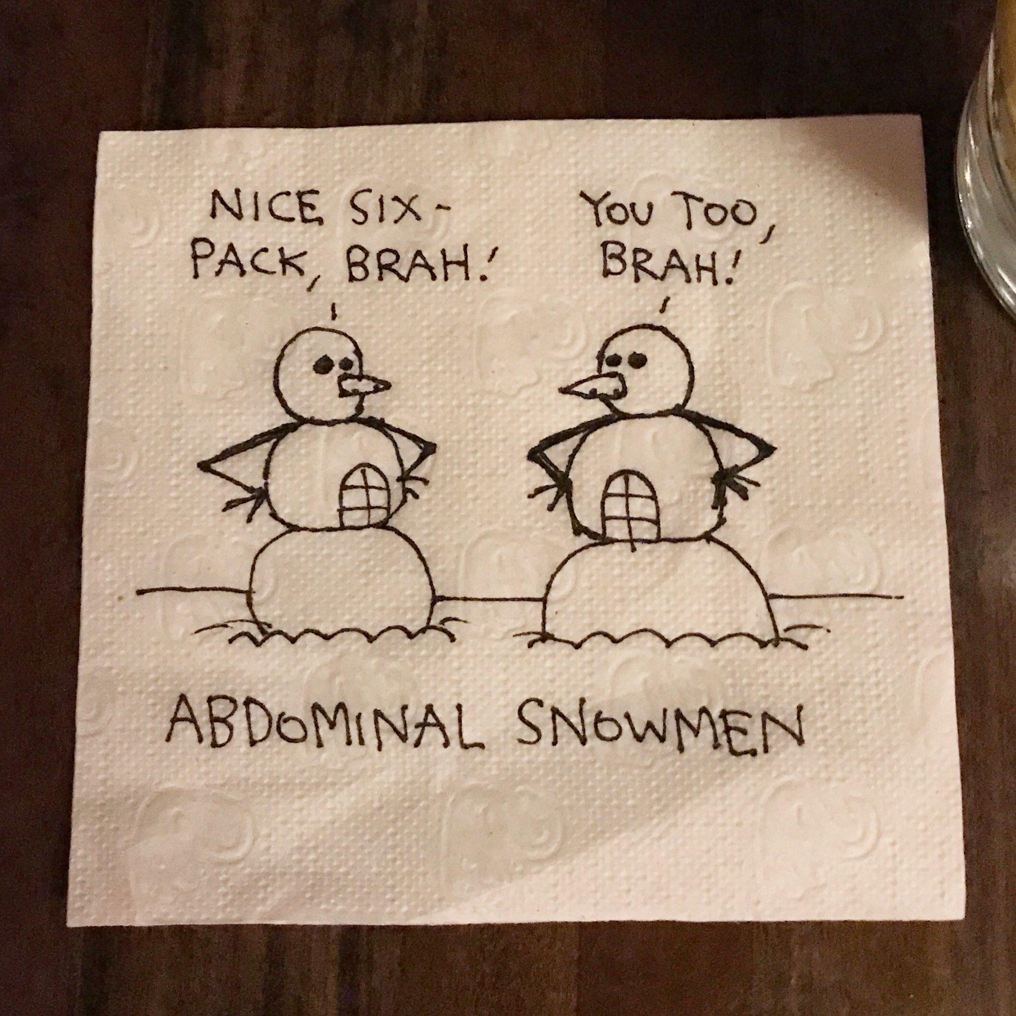 Tonight's dumb napkin cartoon... https://t.co/aEhVYKgnCJ https://t.co/cQmjSxDpIn