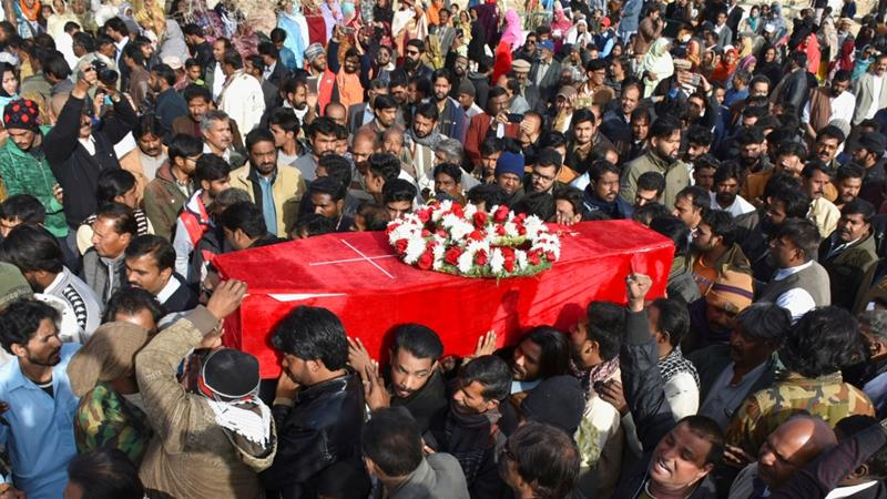 Quetta mourns the victims of a brazen attack on a church days before Christmas