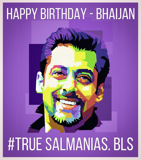 Happy birthday bhaijan Sultan of Bollywood Salman Khan  Love you