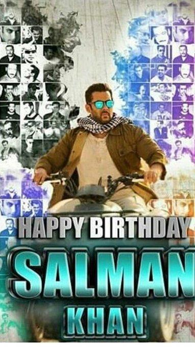 Happy birthday most handsome & cute dildaar hero in the world salman khan
