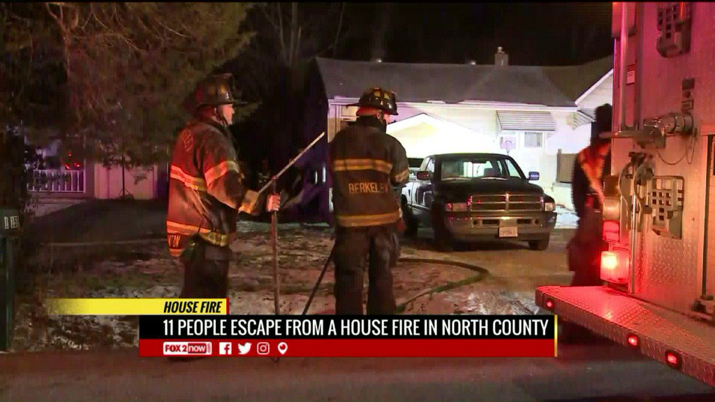 Six children, 5 adults escape early morning housefire