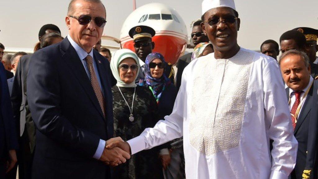 Turkish president Erdogan arrives in Chad