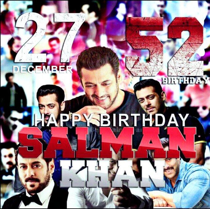 Happy birthday Salman Bhai Salman Khan means the world to me. human...