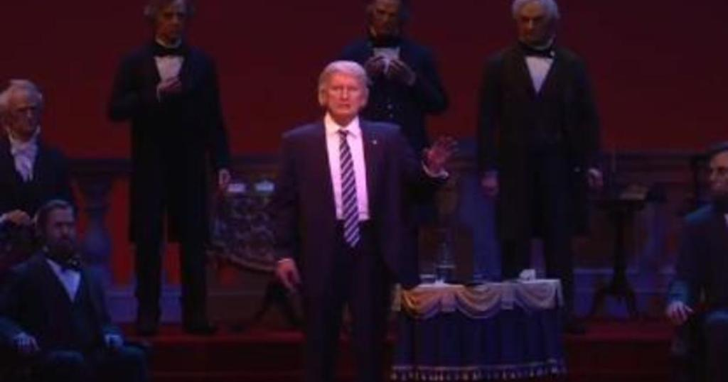 An animatronic figure of Donald Trump has joined Disney's Hall of Presidents in Florida: