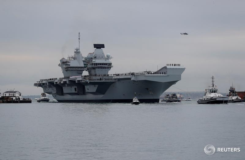 Britain's new and most advanced military vessel has sprung a leak