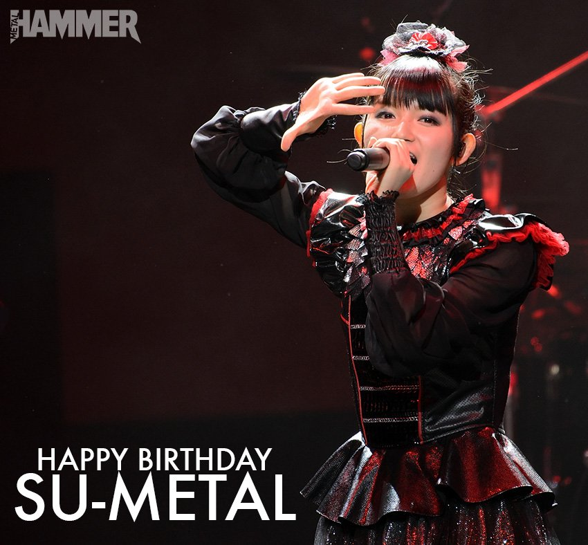 Happy 20th birthday to @BABYMETAL_JAPAN's Su-Metal! https;//t.co/kQuEhxG4EU