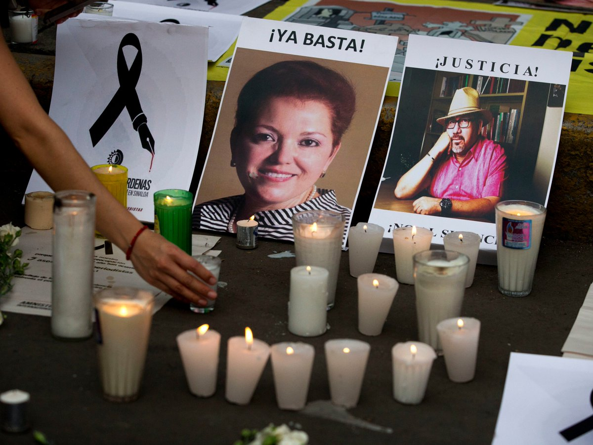 Mexican journalist shot dead at primary school party is the latest in a series of killings