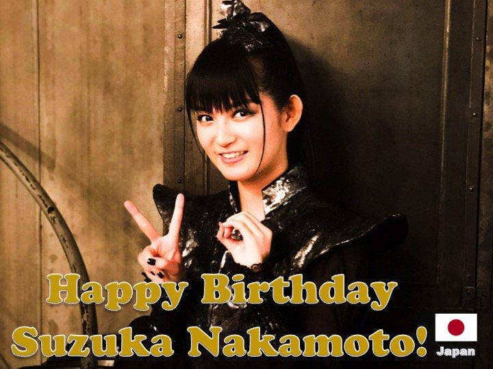 Happy 20th Birthday to #BABYMETAL's #SuzukaNakamoto! #SUMETAL @BABYMETAL_JAPAN 💖🇯🇵🎤🎶🎼🎂🎉🎁🎈💐🌟💫🎇 htt...