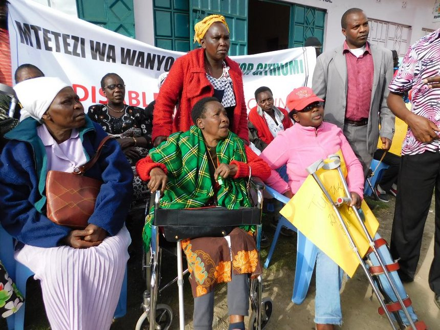 Persons with disability protest exclusion in Nyandarua county jobs